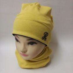 Čiapka bavlnená klasik žltá...