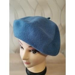 Baretka dámska vlnená modrá...