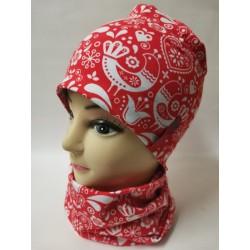Čiapka dámska folklór červená
