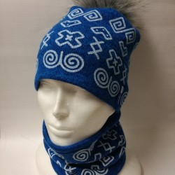 Čiapka Čičmany modrá REPAL